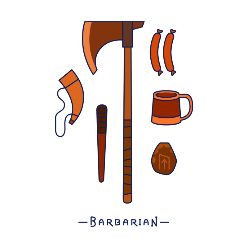 The Barbarian Men's T-Shirt by automaton's Artist Shop