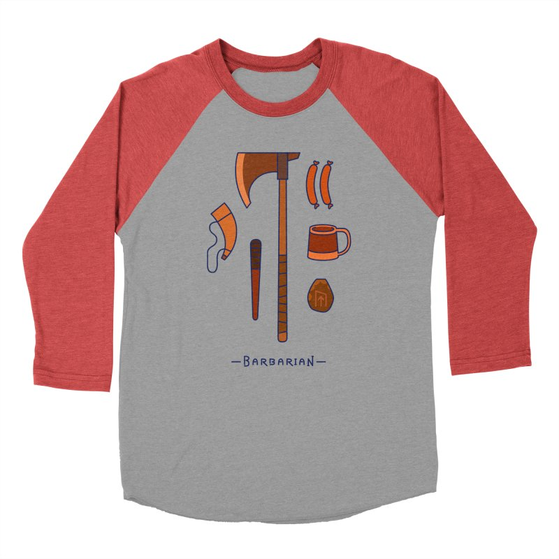 The Barbarian Women's Baseball Triblend Longsleeve T-Shirt by automaton's Artist Shop