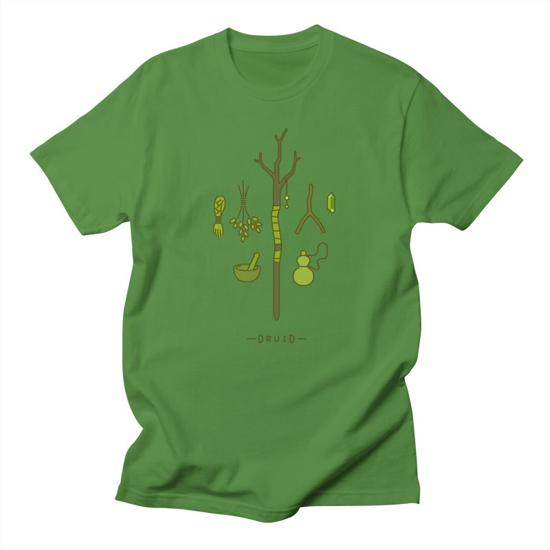 The Druid in Men's Regular T-Shirt Clover by automaton's Artist Shop