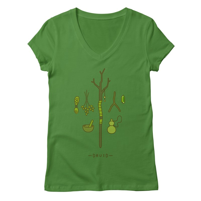 The Druid Women's Regular V-Neck by automaton's Artist Shop