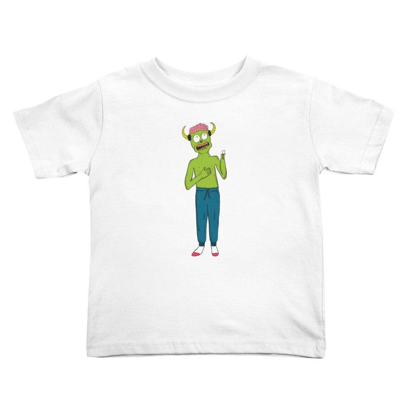 braaaiiiinnnnsss Kids Toddler T-Shirt by rupkey's shirts & other shit