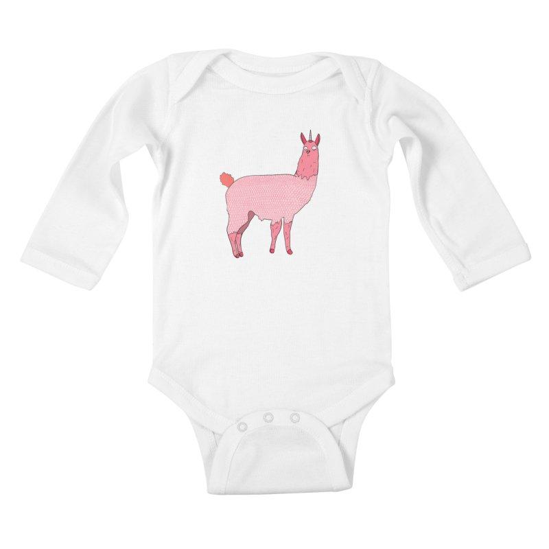 llamacorn Kids Baby Longsleeve Bodysuit by rupkey's shirts & other shit