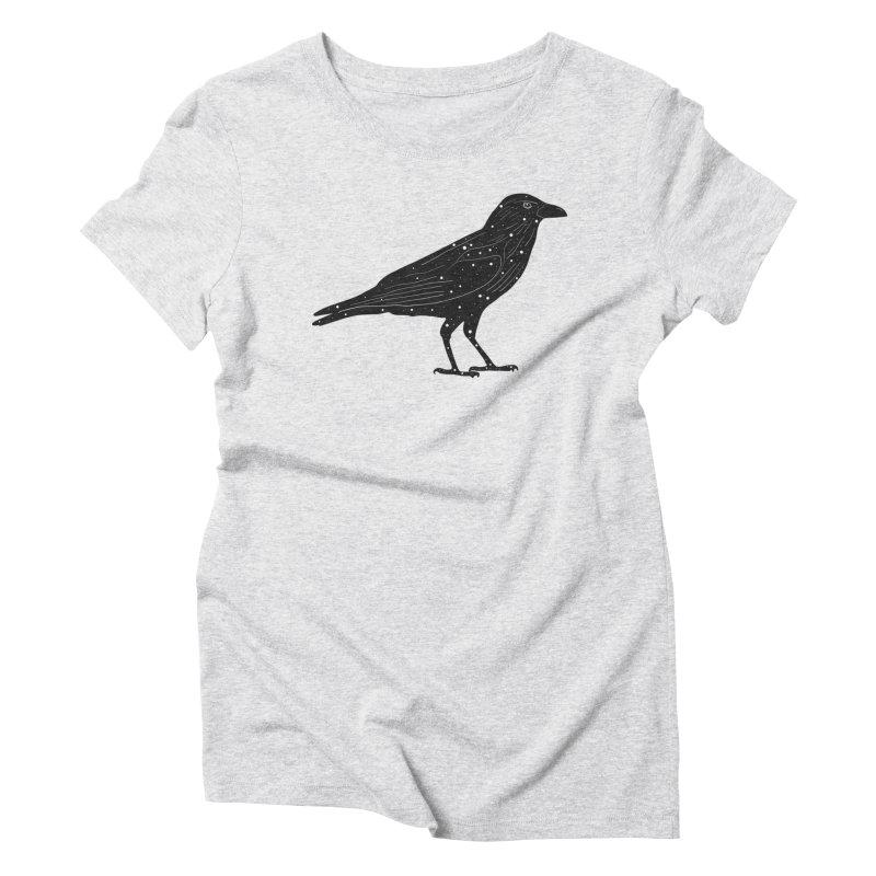 corvus. Women's Triblend T-Shirt by rupkey's shirts & other shit