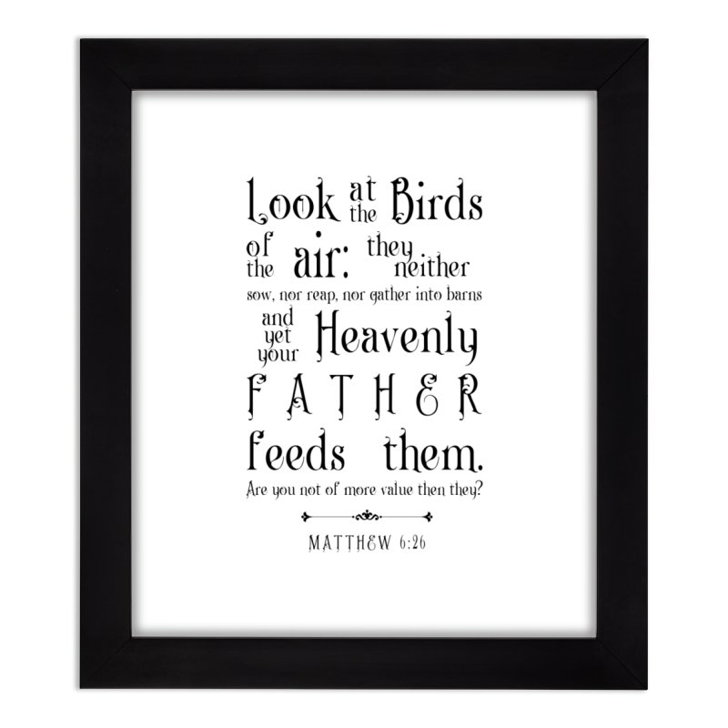 The Birds of the Air Home Framed Fine Art Print by Avadel Designs