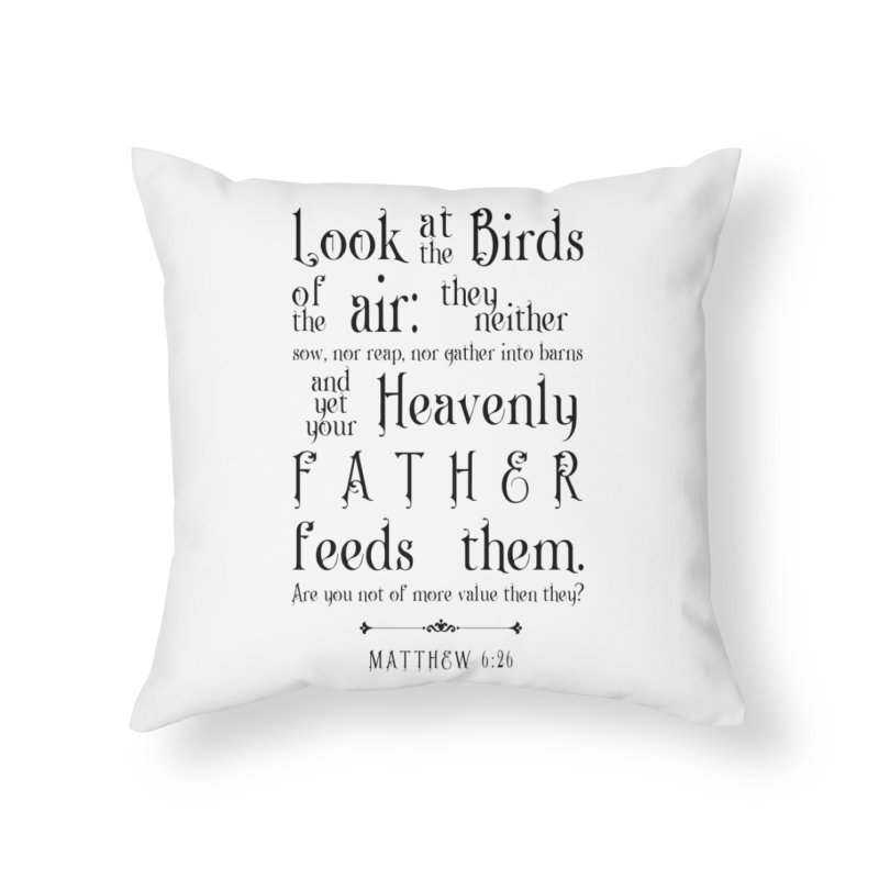 The Birds of the Air Home Throw Pillow by Avadel Designs