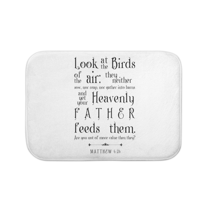 The Birds of the Air Home Bath Mat by Avadel Designs