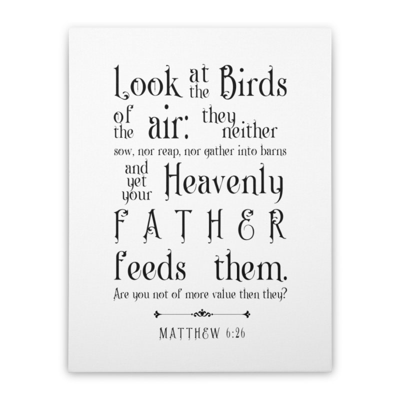 The Birds of the Air Home Stretched Canvas by Avadel Designs