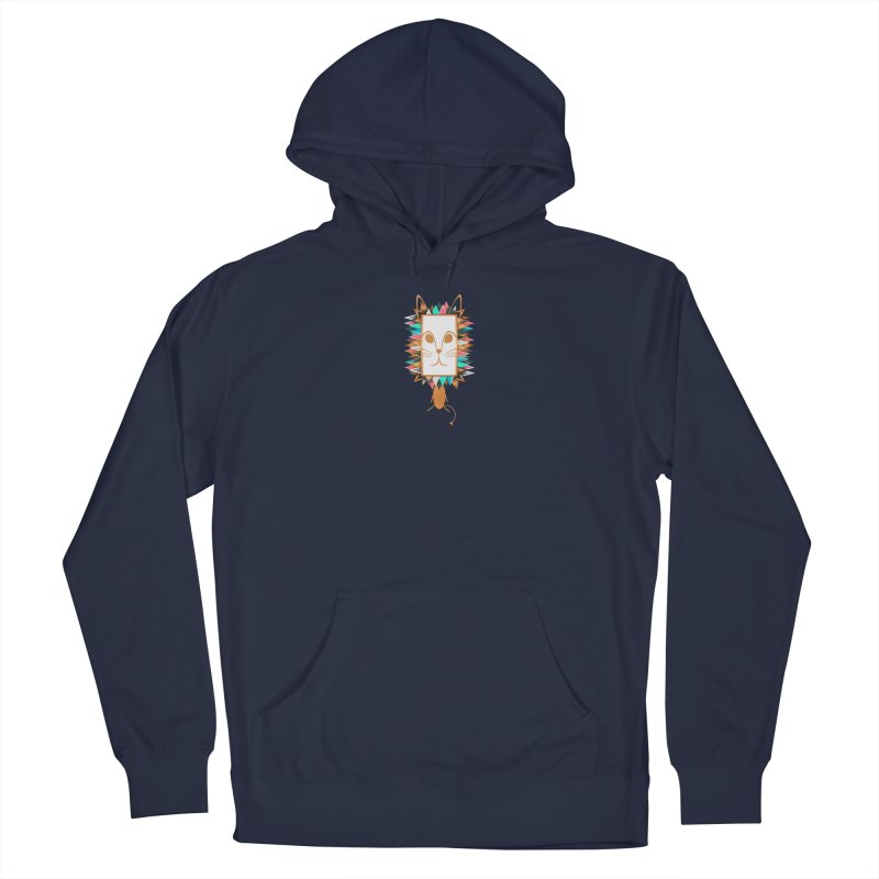 Squeak the Lion Men's Pullover Hoody by Avadel Designs