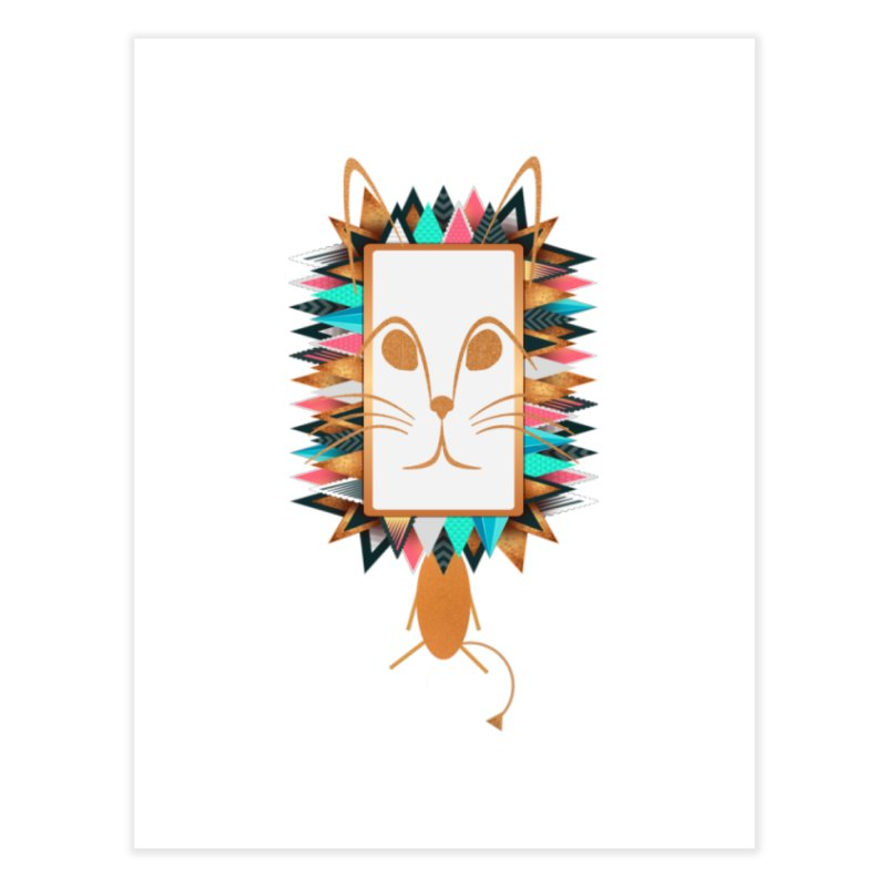 Squeak the Lion Home Fine Art Print by Avadel Designs