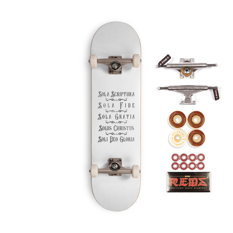 The Five Solas (silver) Accessories Skateboard by Avadel Designs