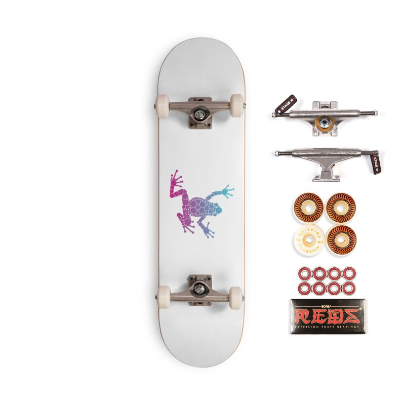 Spots the Frog (neon) Accessories Skateboard by Avadel Designs