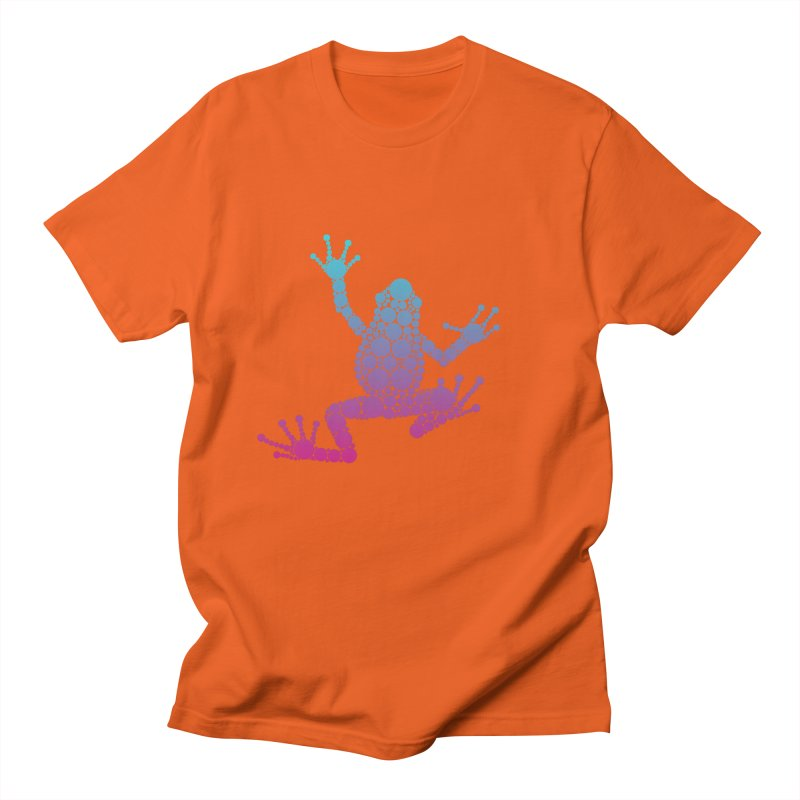Spots the Frog (neon) Men's T-Shirt by Avadel Designs