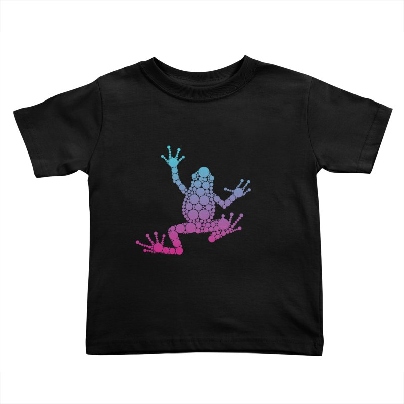 Spots the Frog (neon) Kids Toddler T-Shirt by Avadel Designs
