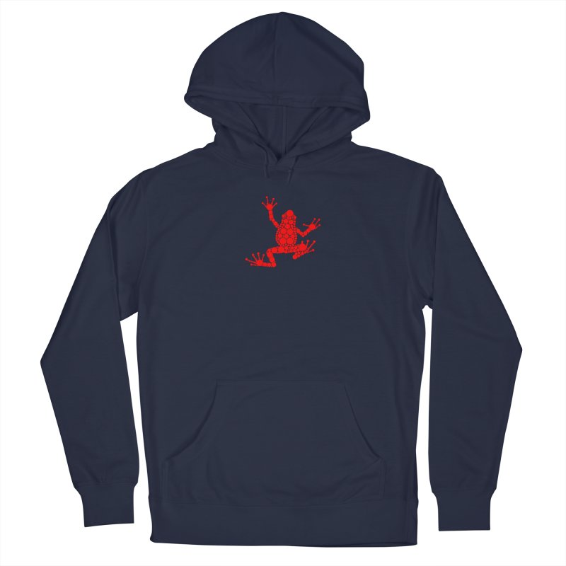 Spots the Frog (red) Men's Pullover Hoody by Avadel Designs
