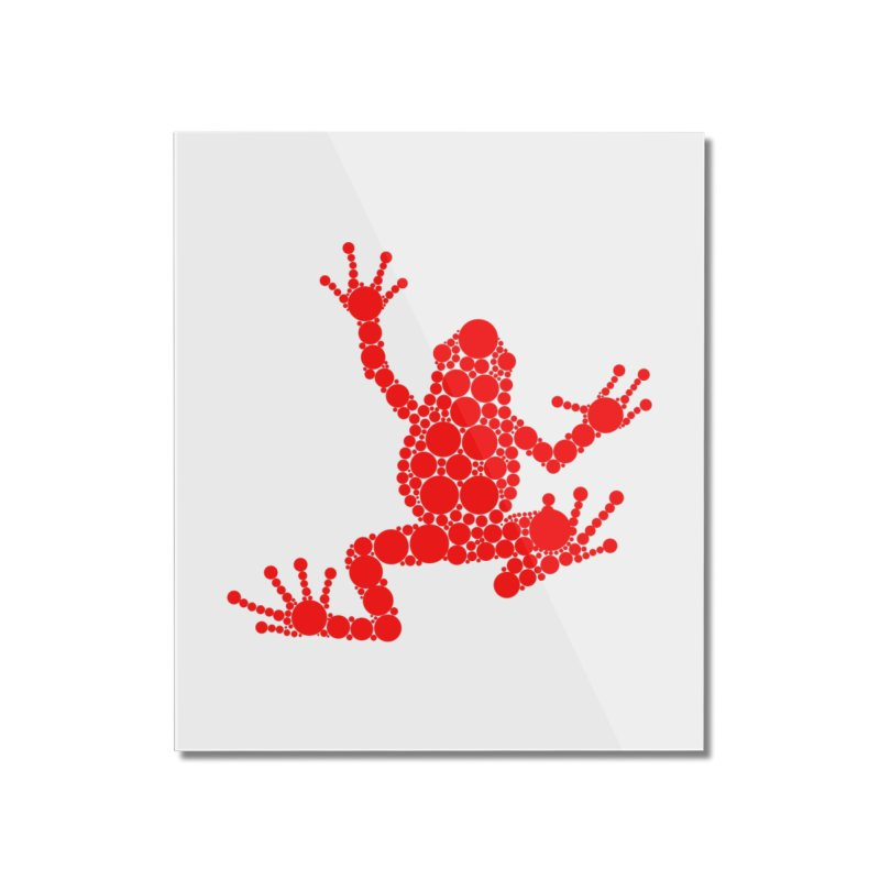 Spots the Frog (red) Home Mounted Acrylic Print by Avadel Designs