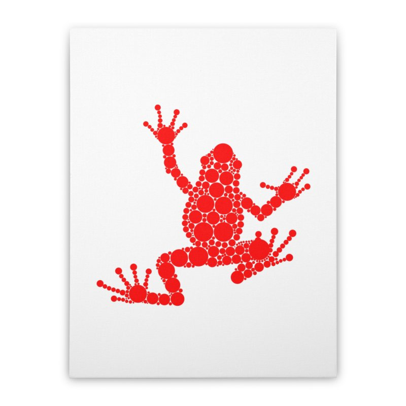 Spots the Frog (red) Home Stretched Canvas by Avadel Designs