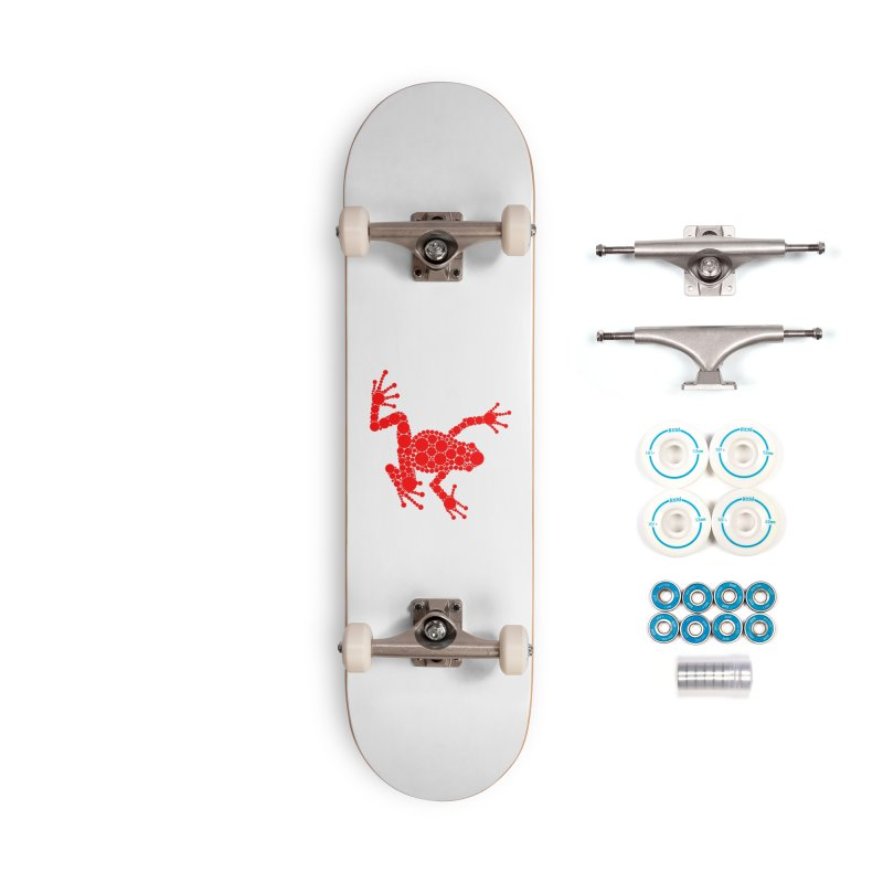 Spots the Frog (red) Accessories Skateboard by Avadel Designs