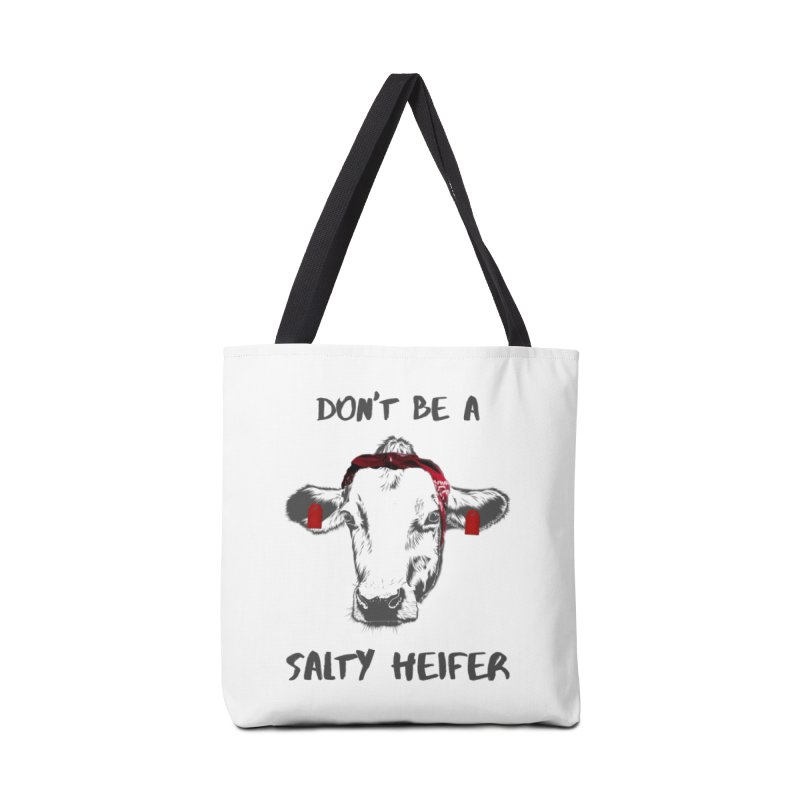 Don't Be a Salty Heifer Accessories Bag by Avadel Designs