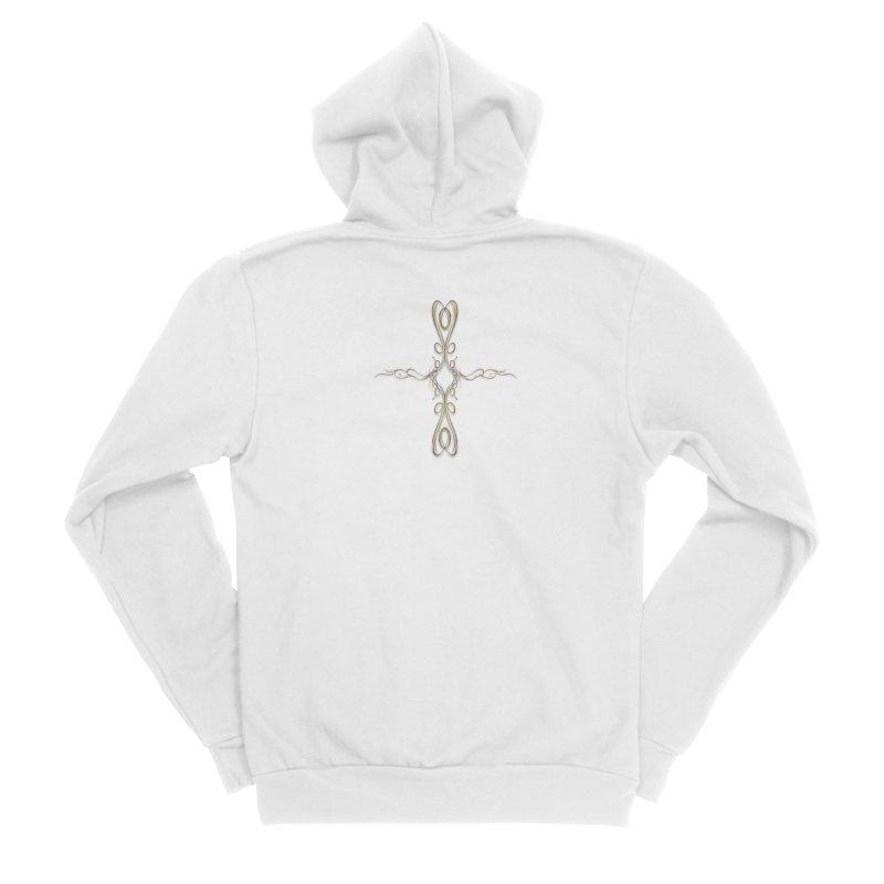 Golden Cross Women's Zip-Up Hoody by Avadel Designs