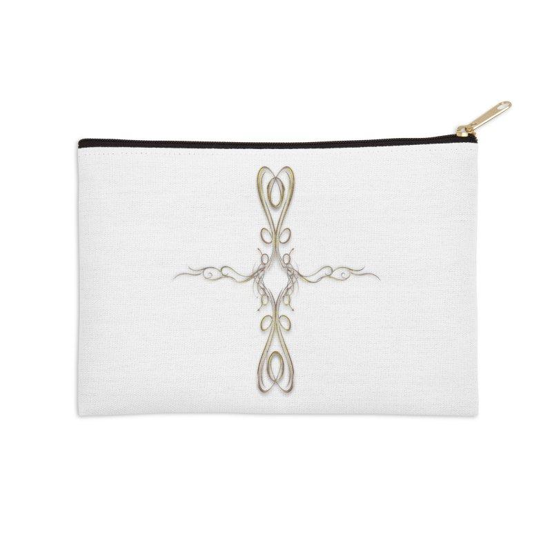 Golden Cross Accessories Zip Pouch by Avadel Designs