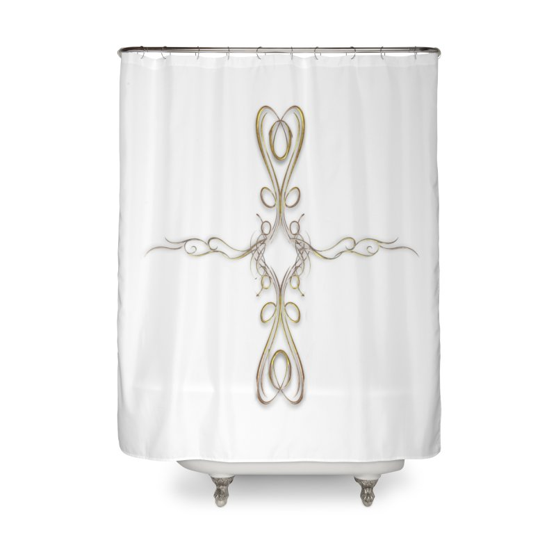 Golden Cross Home Shower Curtain by Avadel Designs