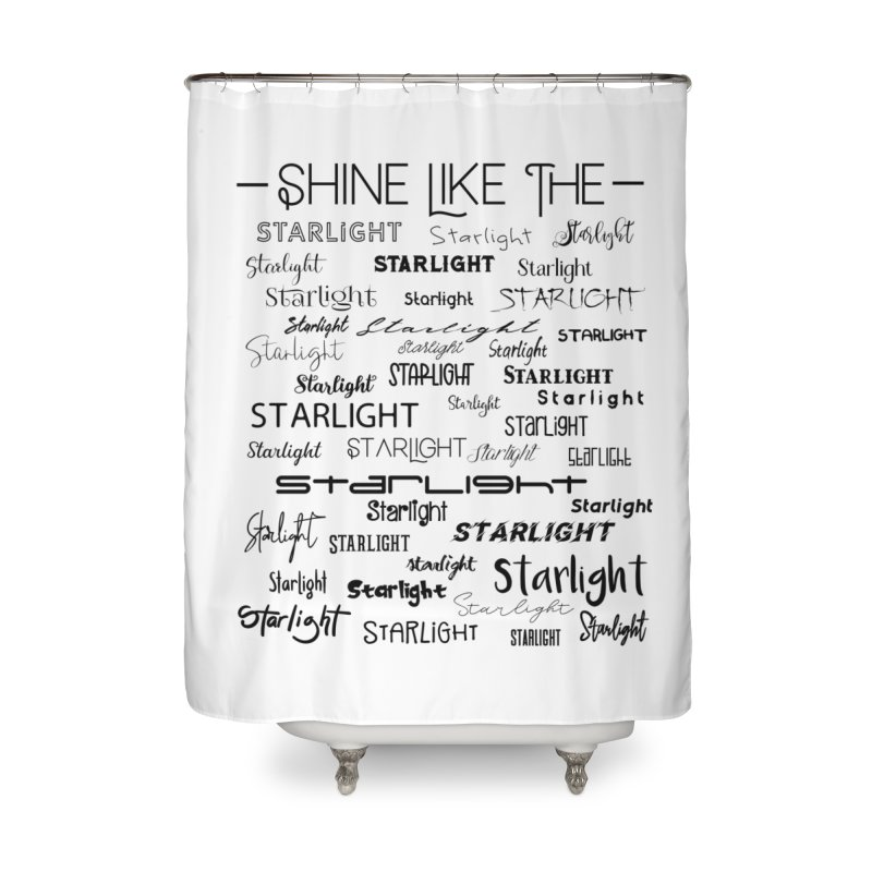 Shine Like the Starlight Home Shower Curtain by Avadel Designs