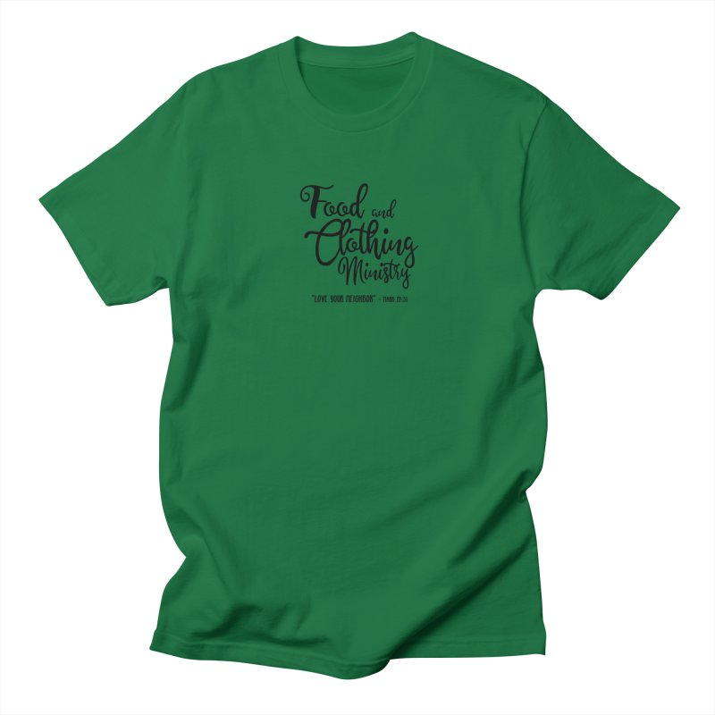 Food and Clothing Ministry Men's T-Shirt by Avadel Designs