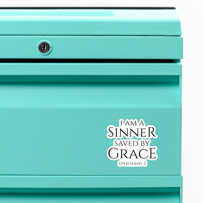 Sinner Saved by Grace Accessories Magnet by Avadel Designs