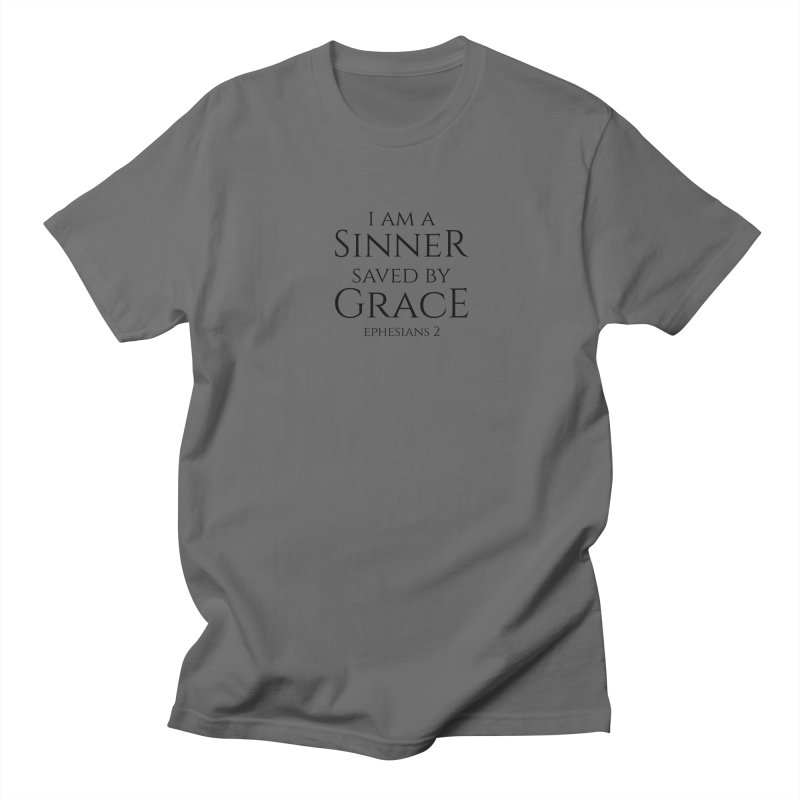 Sinner Saved by Grace Men's T-Shirt by Avadel Designs