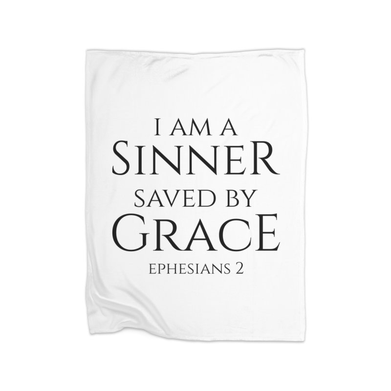 Sinner Saved by Grace Home Blanket by Avadel Designs