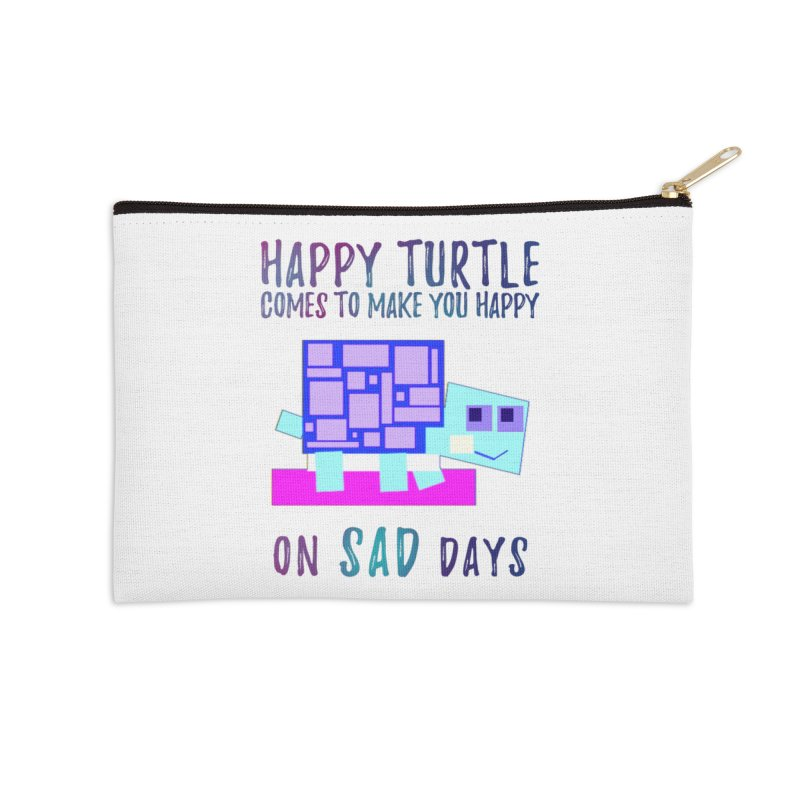Happy Turtle Accessories Zip Pouch by Avadel Designs