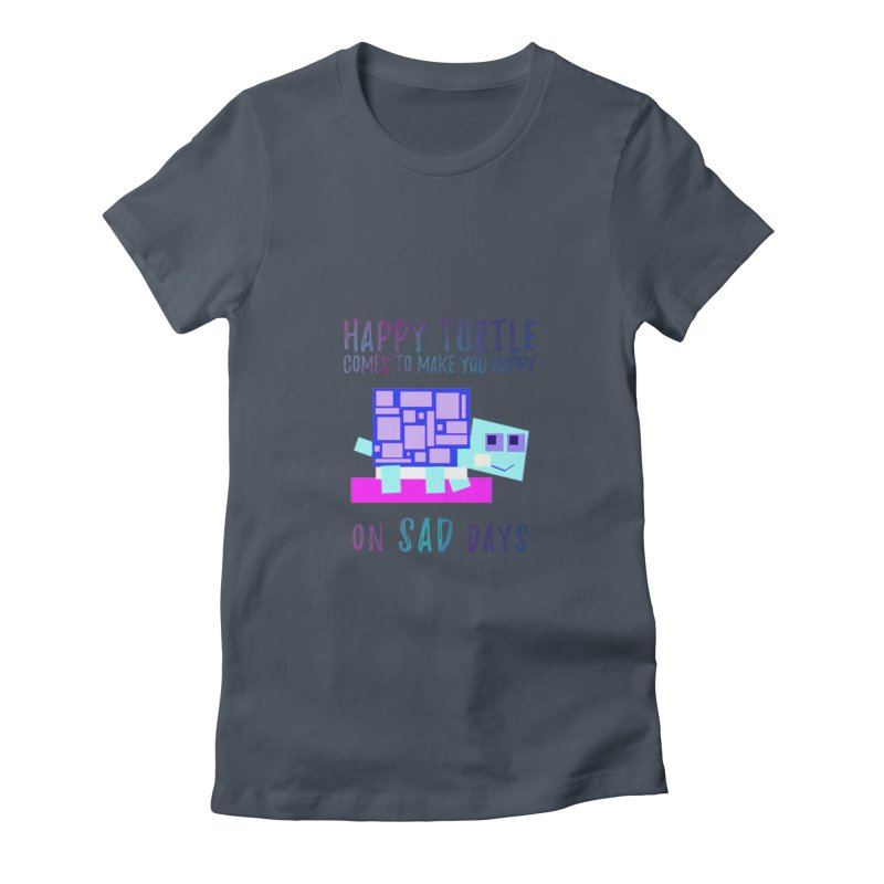 Happy Turtle Women's T-Shirt by Avadel Designs