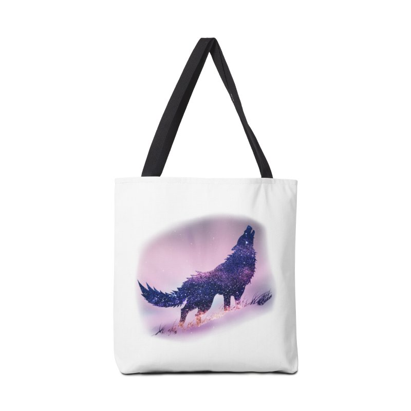 Galaxy Wolf Accessories Bag by Avadel Designs