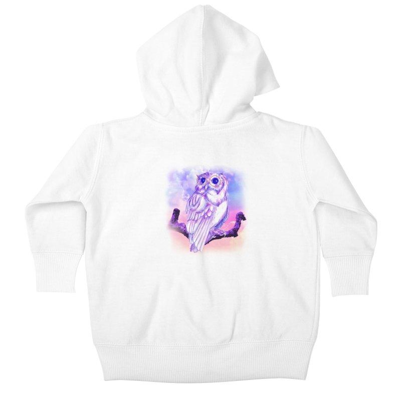 Daydream Owl Kids Baby Zip-Up Hoody by Avadel Designs
