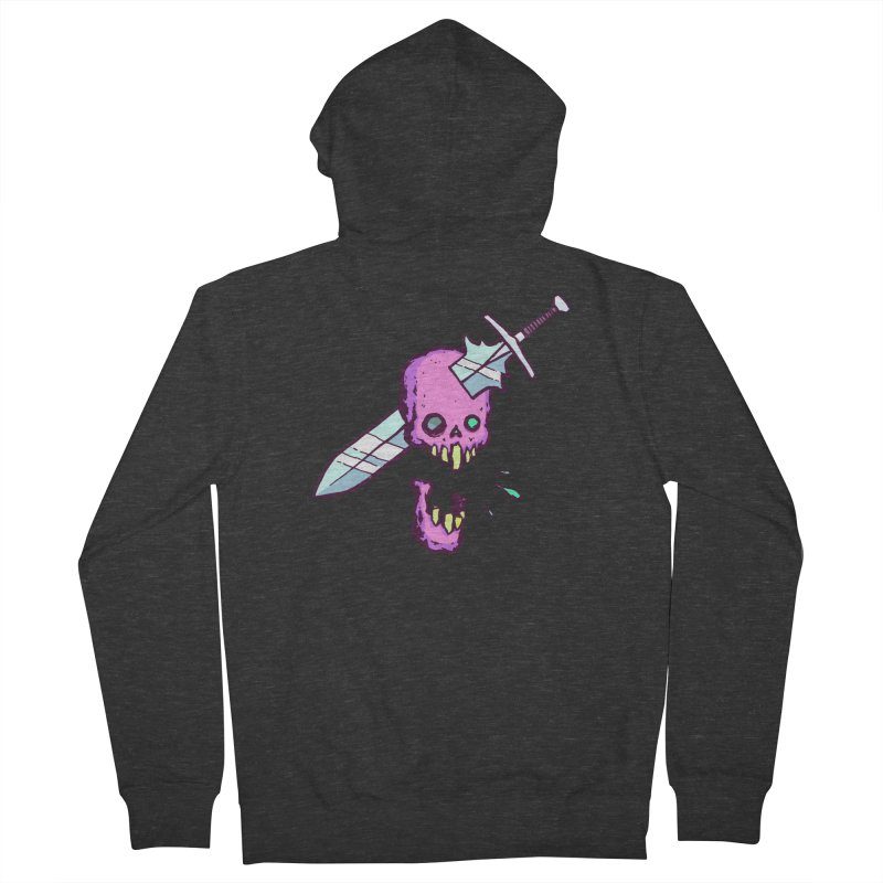 Skull with Sword Men's French Terry Zip-Up Hoody by Avery is Hungry