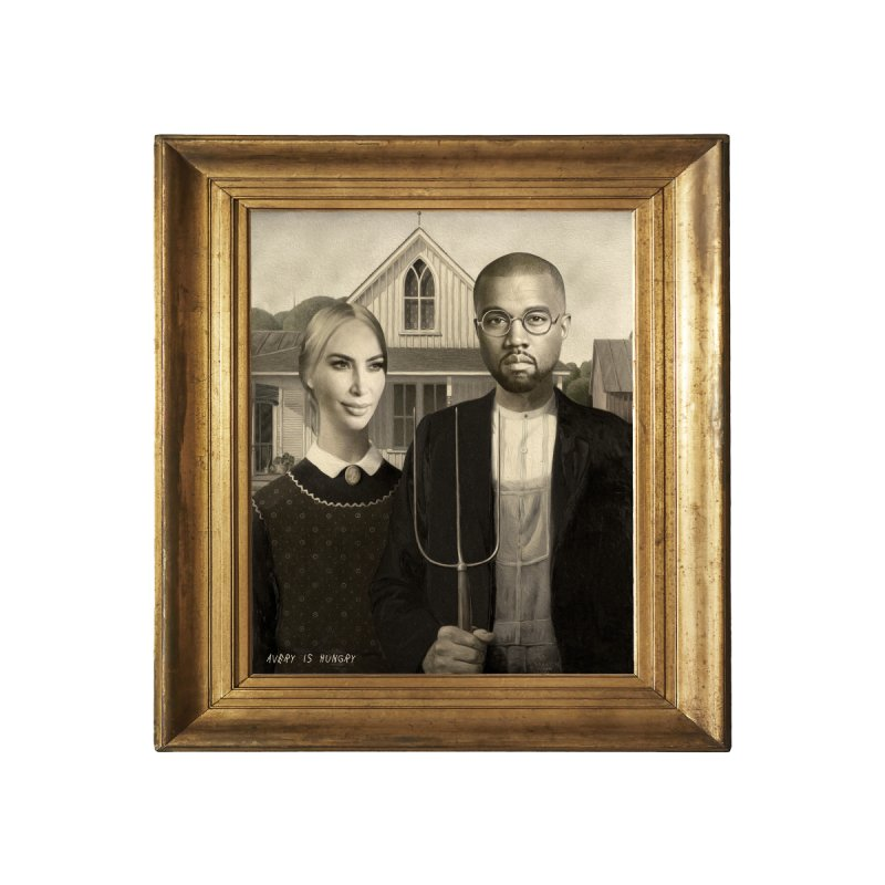 American Gothic Men's T-Shirt by Hungry Design Club