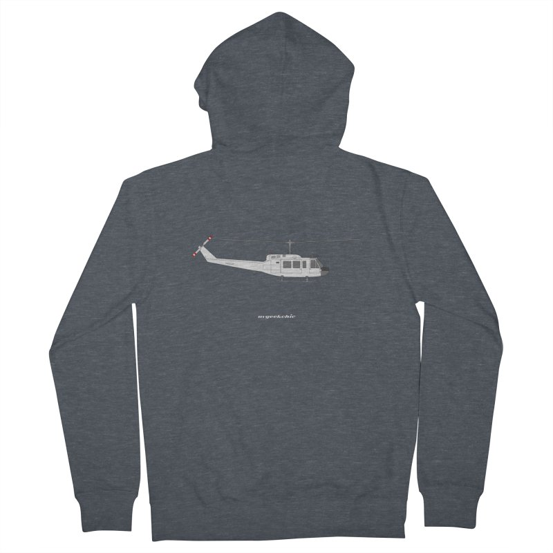 """Bell UH-1H Iroquois """"Huey"""" Women's French Terry Zip-Up Hoody by avgeekchic's Artist Shop"""