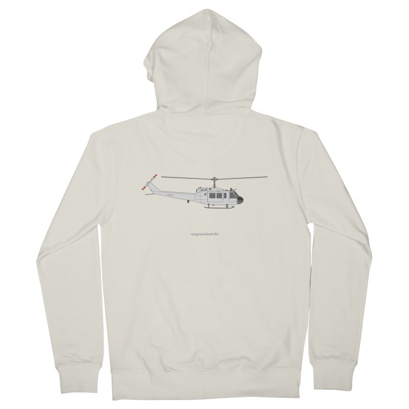 "Bell UH-1H Iroquois ""Huey"" Men's French Terry Zip-Up Hoody by avgeekchic's Artist Shop"