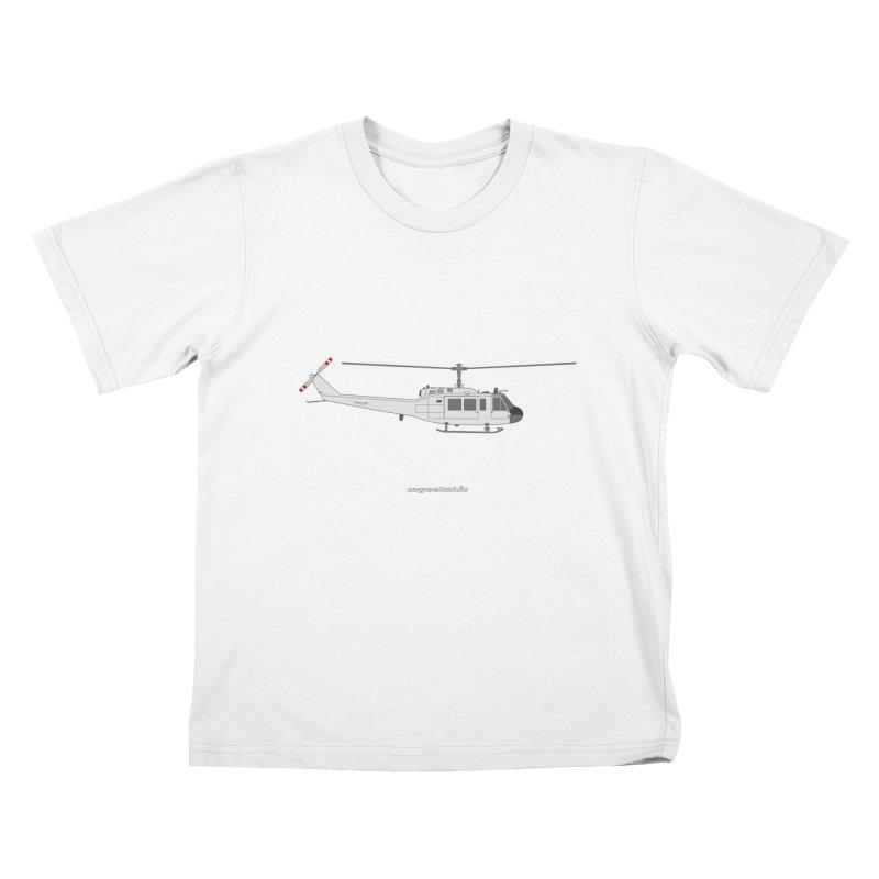 """Bell UH-1H Iroquois """"Huey"""" Kids T-Shirt by avgeekchic's Artist Shop"""