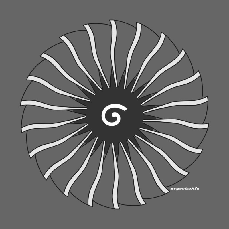 GE90 Fan Disc Men's T-shirt by avgeekchic's Artist Shop