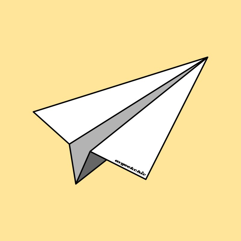 Paper Plane Men's T-Shirt by avgeekchic's Artist Shop