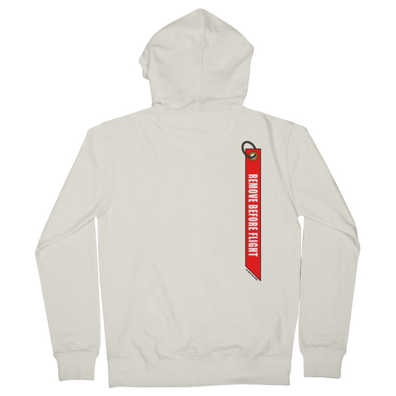 Remove Before Flight Men's Zip-Up Hoody by avgeekchic's Artist Shop