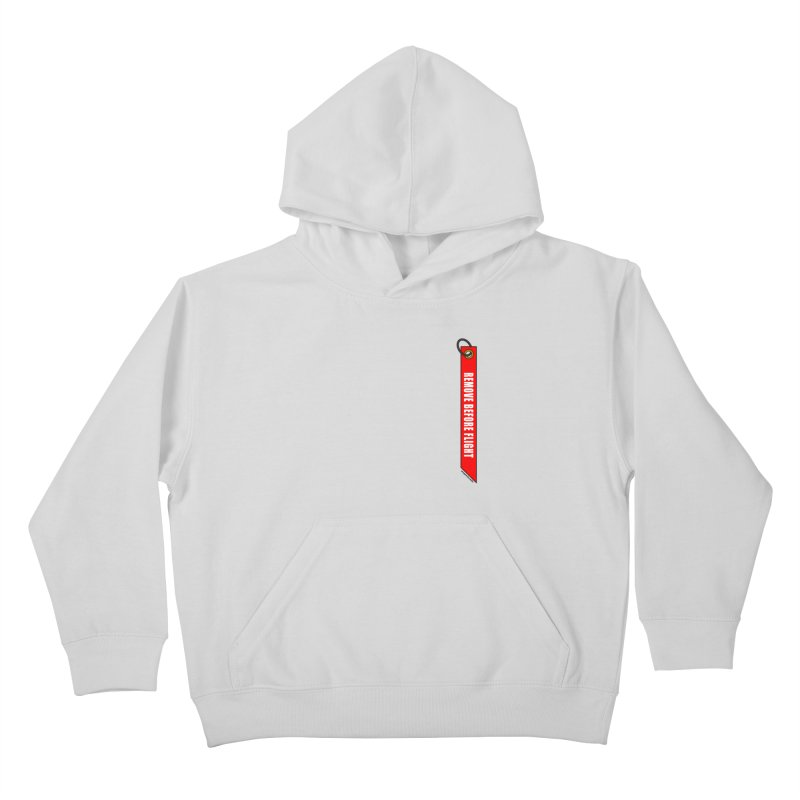 Remove Before Flight Kids Pullover Hoody by avgeekchic's Artist Shop