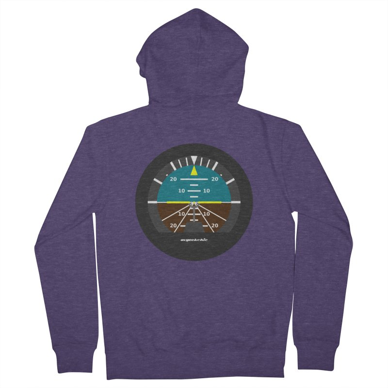 Attitude Indicator Men's French Terry Zip-Up Hoody by avgeekchic's Artist Shop