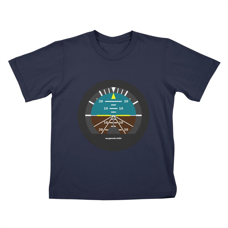 Attitude Indicator Kids T-Shirt by avgeekchic's Artist Shop