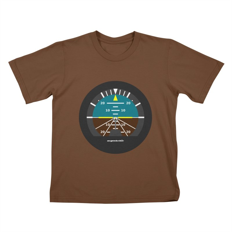 Attitude Indicator Kids T-Shirt by avgeekchic's Artist Shop