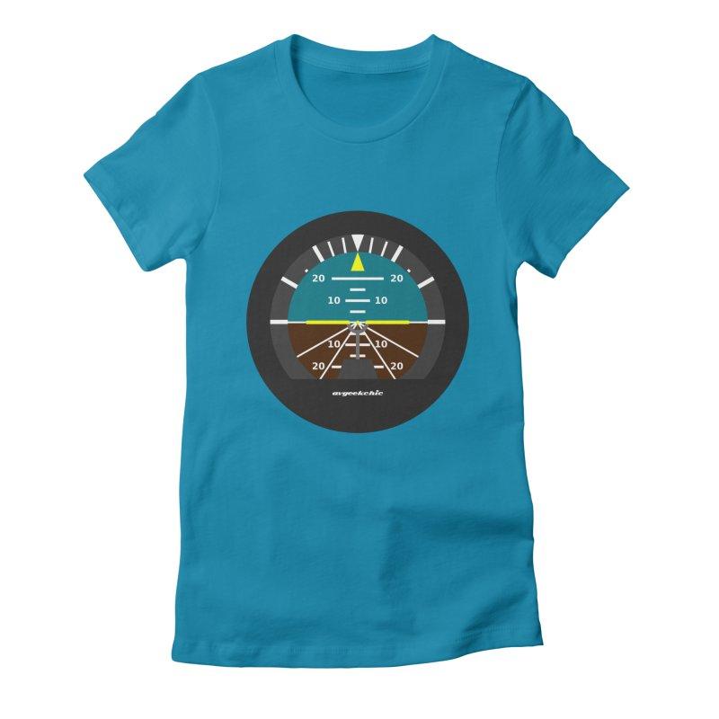 Attitude Indicator Women's Fitted T-Shirt by avgeekchic's Artist Shop