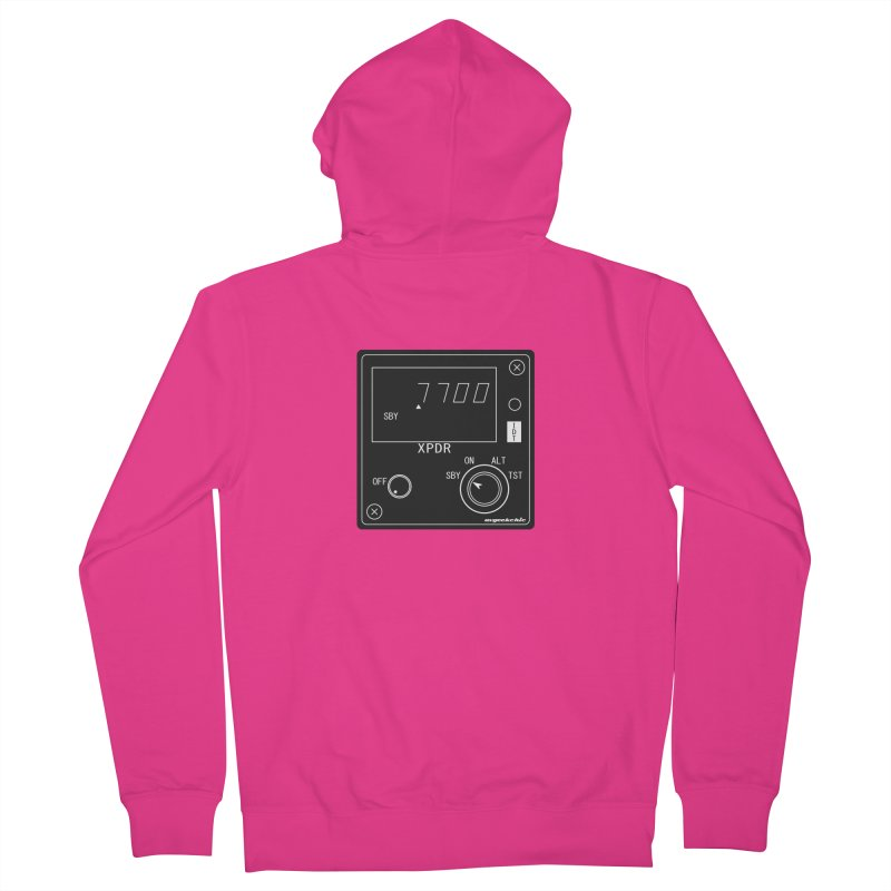 Squawk 7700 Emergency Men's French Terry Zip-Up Hoody by avgeekchic's Artist Shop