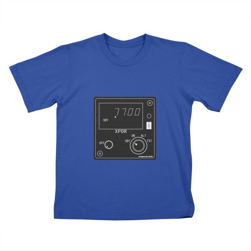 Squawk 7700 Emergency Kids T-Shirt by avgeekchic's Artist Shop