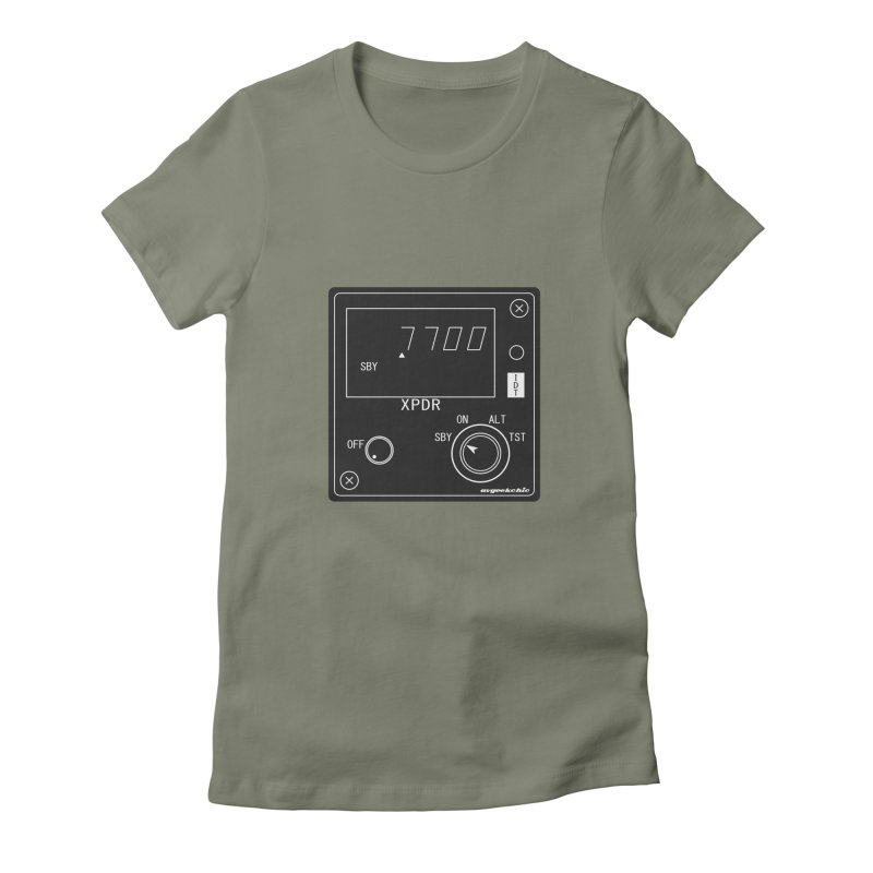 Squawk 7700 Emergency Women's Fitted T-Shirt by avgeekchic's Artist Shop